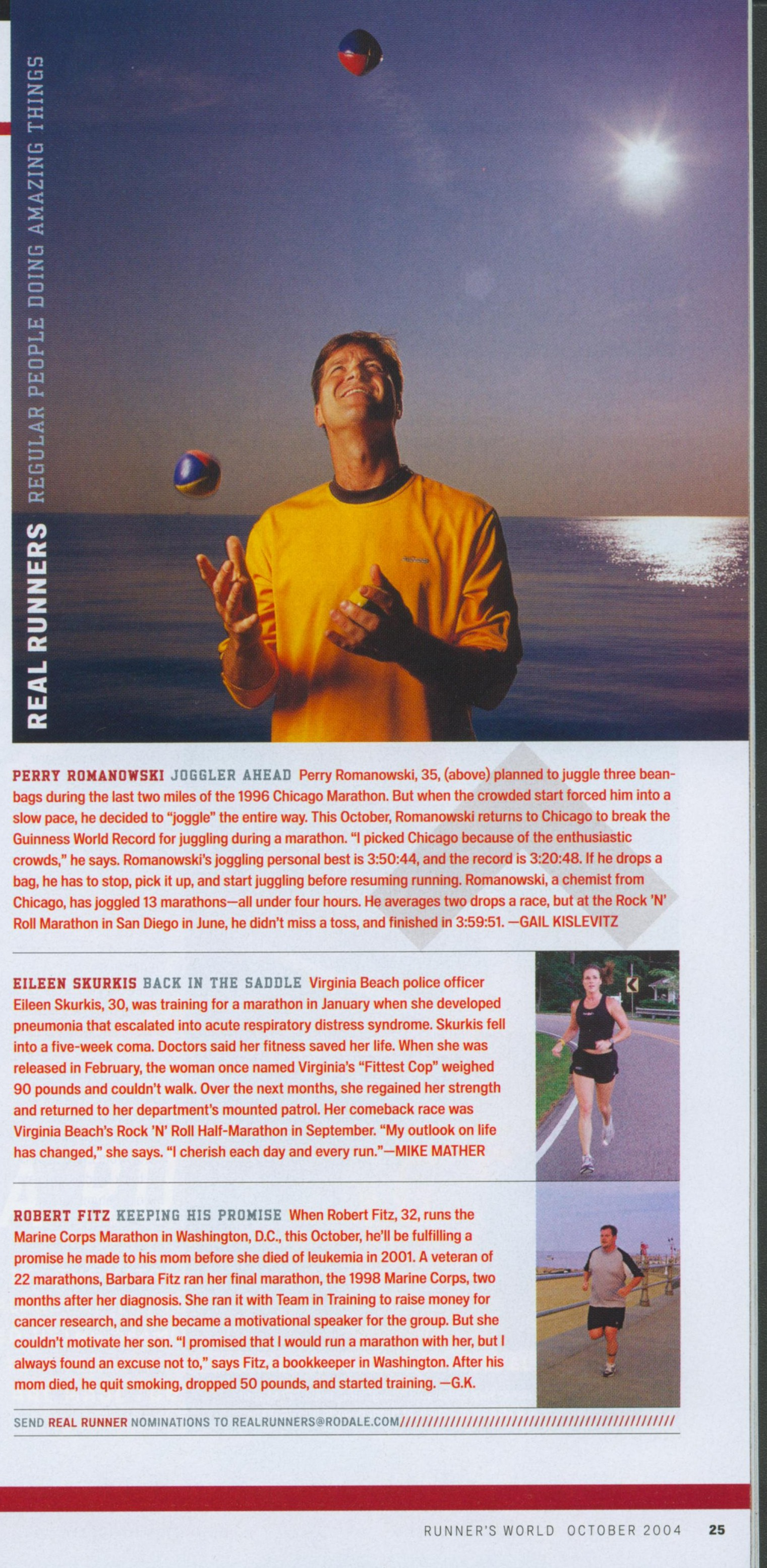 joggling in runners world
